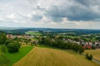 Panorama op 760 meter hoogte