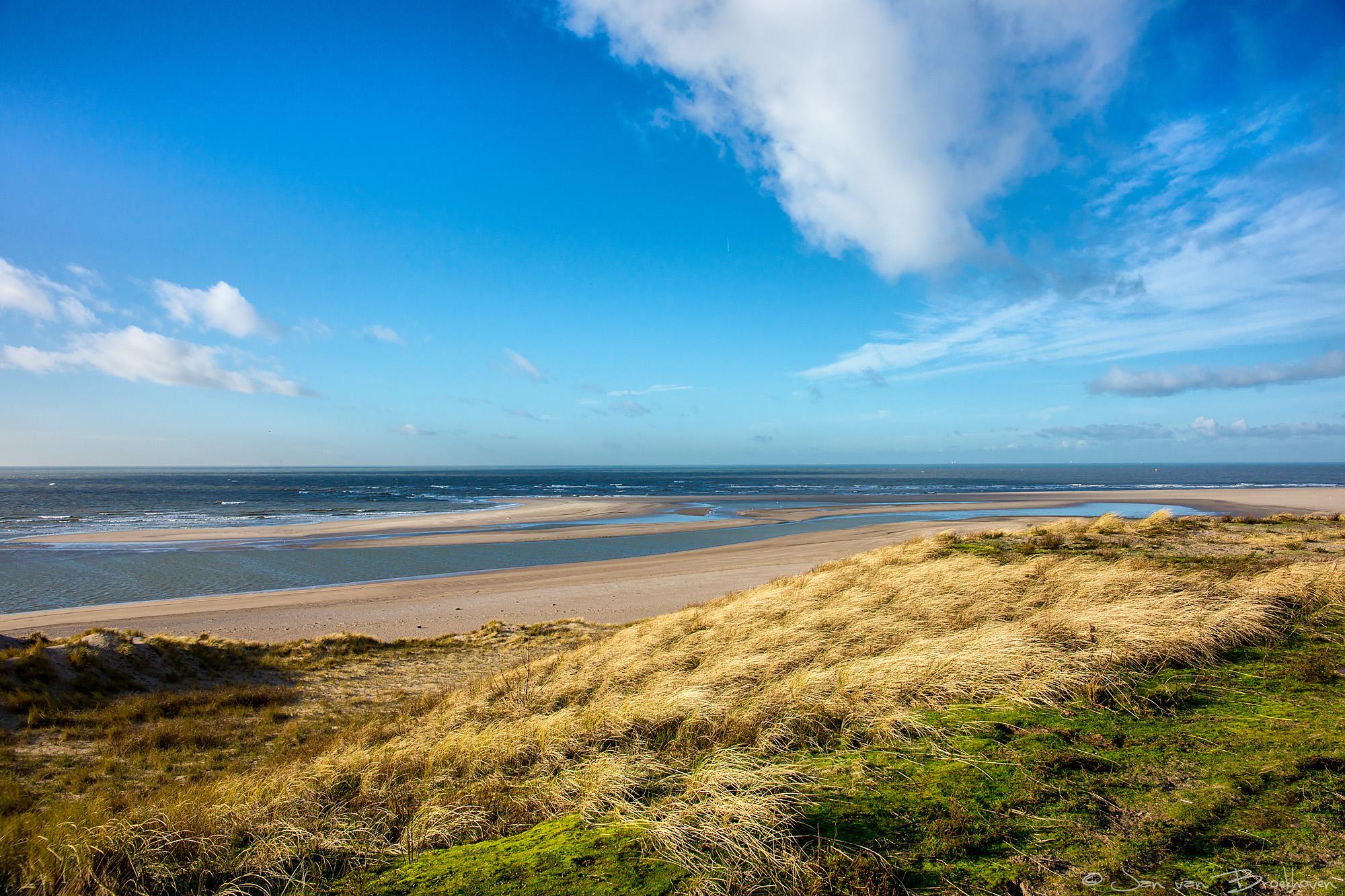 Noordzee vanaf de maasvlakte